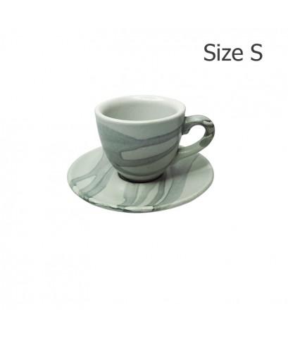 ถ้วยเอสเปรสโซ่ 65 CC. (Size S) ถ้วยกาแฟ ลาย X1 พร้อมจานรอง 1618-053