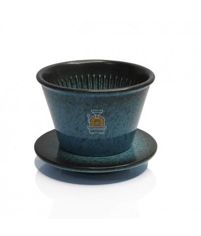 ดริปเปอร์ APRESSO 2-4 cups+ฐานรองดริป สีน้ำเงิน 1610-722-C08