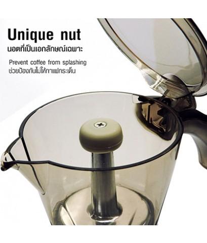 หม้อต้มกาแฟ ไฟฟ้า มอคค่าพอท ขนาด 3 ถ้วย สีเทา 1614-229-C02