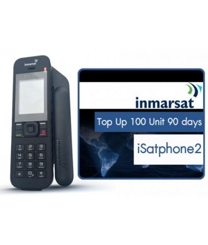 เติมเงินโทรศัพท์ดาวเทียม iSatPhone2 100 ยูนิต 90 วัน
