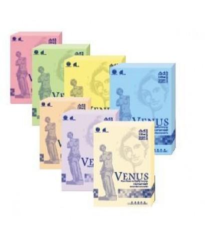 กระดาษการ์ดสี (วีนัส) A4 150g สีเขียว 200แผ่น