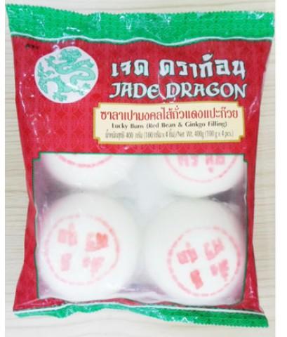 ซาลาเปามงคลถั่วแดงแปะก้วย ตราเจด ดราก้อน (400g)