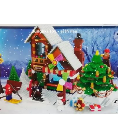 เลโก้จีน กระท่อมในวันคริสมาสต์ 812 ชิ้น Chritmas CH Legoe