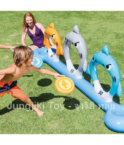 ของเล่นกีฬาโยนห่วงปากฉลามในสรน้ำ intex 57501