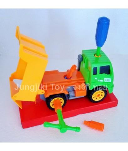 ของเล่นพลาสติกชุดถอดประกอบรถงานก่อสร้าง แบบกล่อง