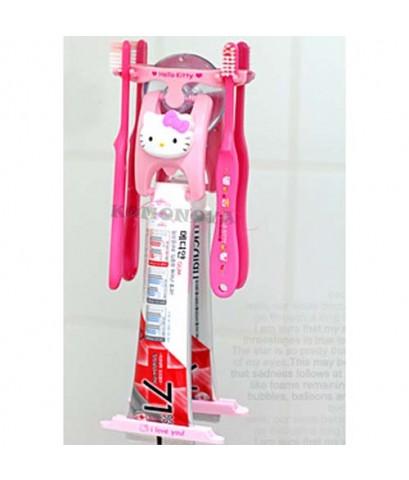 ที่บีบยาสีฟันคิตตี้พร้อมที่เสียบแปรงสีฟัน