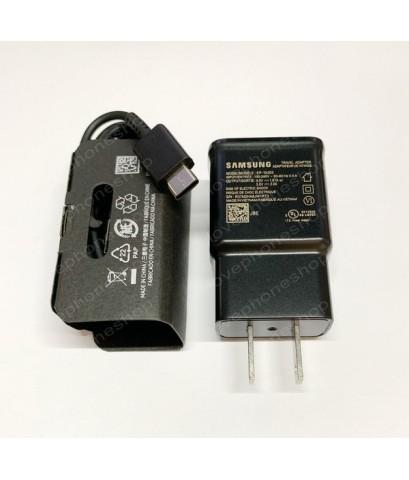 หัวชาร์ตแท้!! SAMSUNG S10,S10+ Fast Charging (หัวชาร์จ + สาย USB Type-C) สีดำ ส่งฟรี..