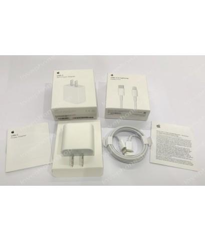 ชุดหัวชาร์จ Apple 18W USB-C Power Adapter และ สาย USB-C to Lightning Cable (ส่งฟรี)