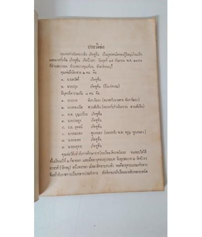 จดหมายเหตุเรื่องส่งทูตไทยไปกรุงโรมครั้งที่ 2 อนุสรณ์ นายปลิว เกิดชูชื่น , นางบุญแทน บุณยดิษ