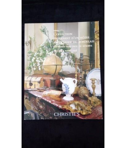 Christies 2006 Collection Provenant d\'un Hôtel du Bordelais