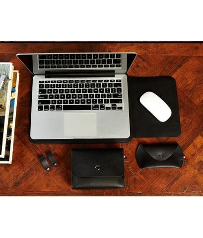 ซองหนัง French - Gracieux Sleeve สำหรับ Macbook Air 11 inch - สี Black
