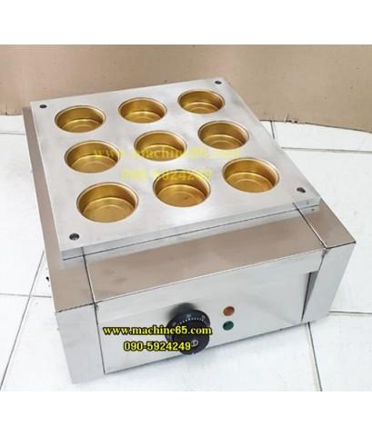 เตาขนมโดรายากิ โอปันยากิขนมถั่วแดงเบ้าทองเหลืองลึก 9 ช่อง ไฟฟ้า