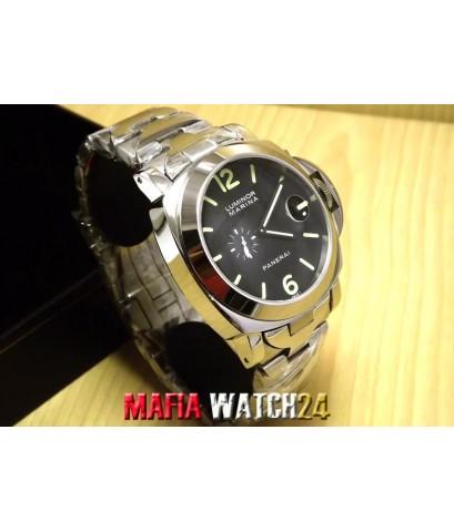 M0408 Automatic PAM299 Steel Black Dial 44mm. Mirror Case Swiss ใหญ่เต็มข้อ