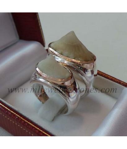 แหวนหางกระเบนตัวเรือนเงินแปะนาก(งานสั่งทำ)