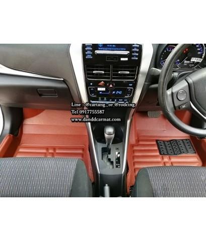 พรมปูพื้นรถยนต์ 5D New Yaris ATIV