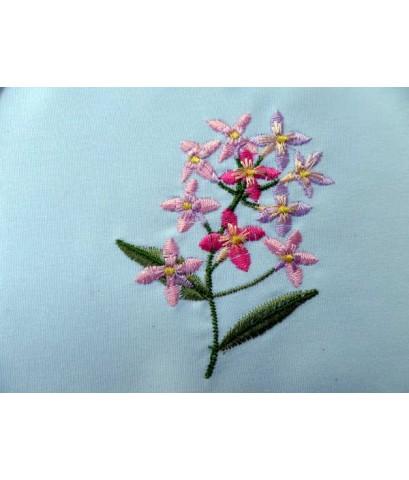 ผ้ารองแจกันดอกไม้แบบวงกลมปักลายดอกไม้