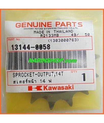 สเตอร์หน้า แท้ศูนย์ 14 ฟัน Kawasaki-KLX/D-Tracker 125-150