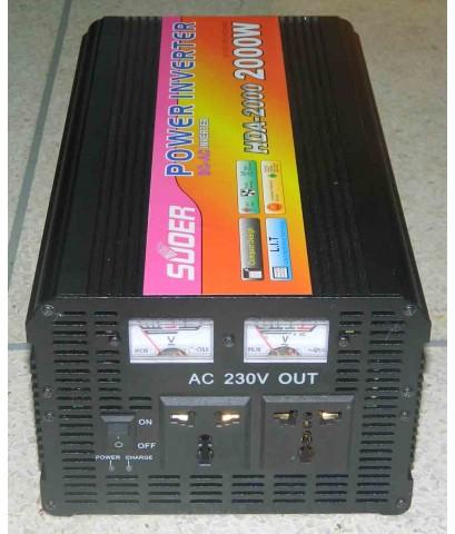 อินเวอร์เตอร์ 12V 2000w HEAVY DUTY SUOER (HDA-2000C) มีชาร์ทเจอร์