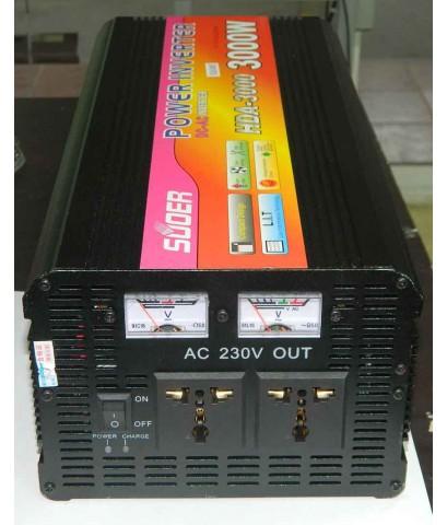 อินเวอร์เตอร์ 24V 3000w HEAVY DUTY SUOER (HDA-3000D) มีชาร์ทเจอร์