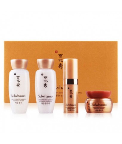 Tester : SULWHASOO  Concentrated Ginseng Renewing Basic Kit 4 Items