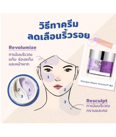 Pre-order : Clinique Fresh Pressed Duo Resculpt + Revolumize Clinical MD Multi-Dimensional 50ml.