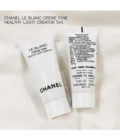 *5mlx3 หลอด* Tester : CHANEL LE BLANC CRÈME FINE HEALTHY LIGHT CREATOR
