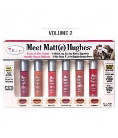 Pre-order : The Balm Meet Matte Hughes 6 Mini Long Lasting Liquid Lipstick (vol.2)