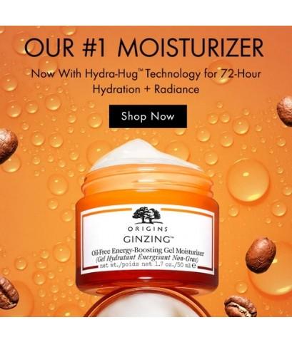 *พร้อมส่ง* ORIGINS Ginzing™ Oil-Free Energy-Boosting Gel Moisturizer 50ml.