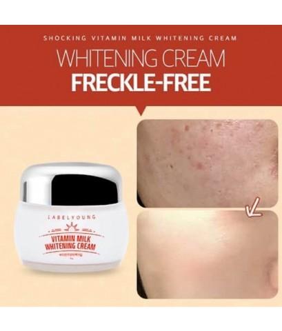 *พร้อมส่ง* LABELYOUNG Vitamin milk whitening cream 55ml.