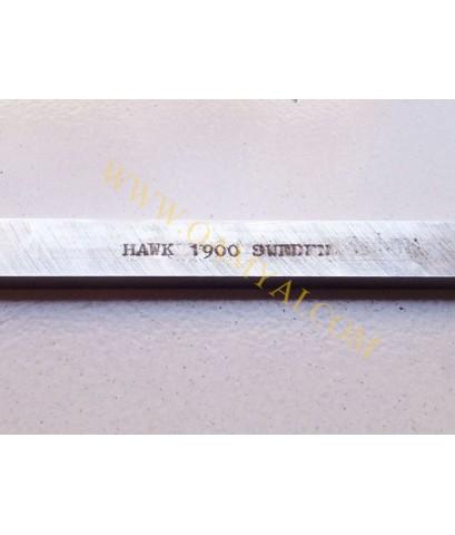 มีดกลึง ขนาด 1/4 นิ้ว x 1/2 นิ้ว x 8 นิ้ว เกรด 1900 HAWK