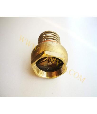 ฟุตวาล์วทองเหลืองธรรมดา (หัวกะโหลกทองเหลืองดูดน้ำ) ขนาด 1.5 นิ้ว