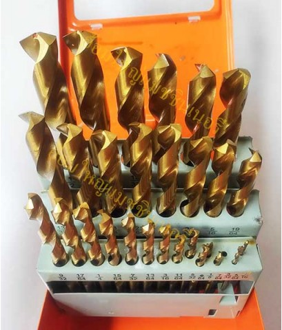 ดอกสว่านเจาะสแตนเลสสีทอง 29 ดอกชุด ขนาด 1/16 นิ้ว -1/2 นิ้ว  PHOENIX