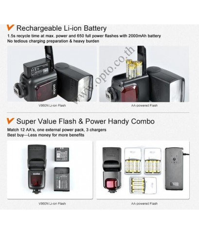 V860IIN Nikon Auto i-TTL II Kit Speedlight Li-ion Battery Buit in X1Receive LCD Panel แฟลชออโต้Godox