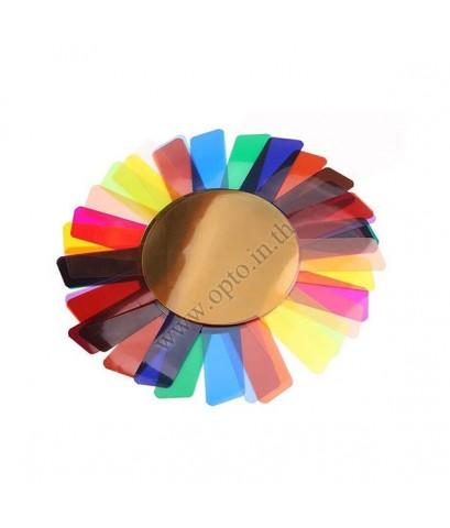 Round Gel Flash 20 Color for Godox V1 เจลสี เจลแฟลช