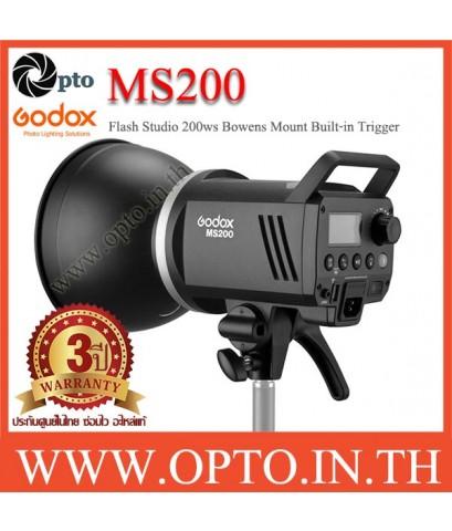 MS200 Godox Studio Strobe Flash Bowens Mount 200W Built in 2.4Ghz wireless X System แฟลชสตูดิโอ