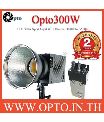 Opto300W LED With Dimmer 30000lm 3300k Sport Light equivalent 3000w ไฟLEDสปอร์ตไลท์