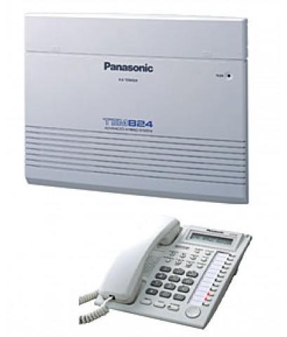 ตู้สาขาโทรศัพท์ PANASONIC รุ่น KX-TEM824BX ขนาด 6 สายนอก 16 สายใน ( ขยายได้ 8 สายนอก 24 สายใน )