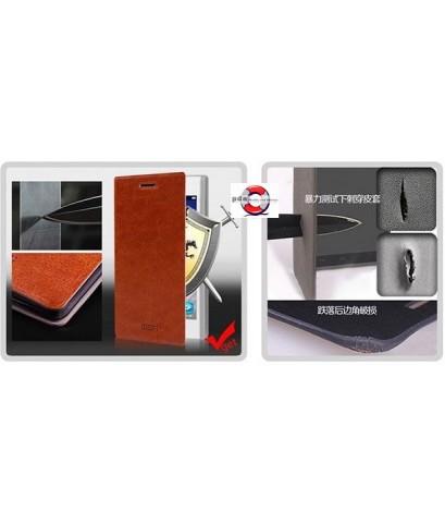 เคสหนังสีดำและสีน้ำตาล MOFI SONY XPERIA Z2 D6503