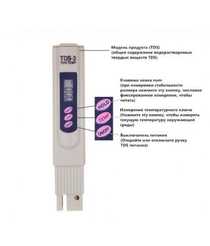 เครื่องวัดค่าความบริสุทธิ์ของน้ำดื่ม TDS Meter
