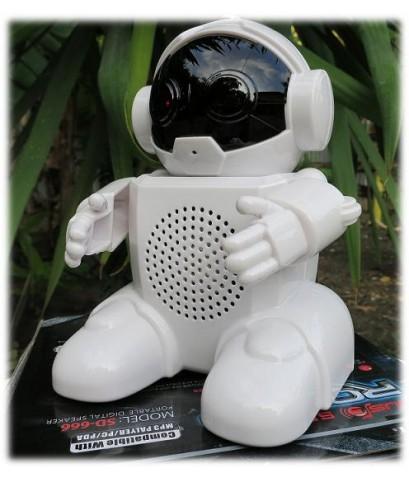 หุ่นยนต์พูดได้ พร้อมเครื่องเล่น MP3 วิทยุ FM และลำโพง (สีขาว)