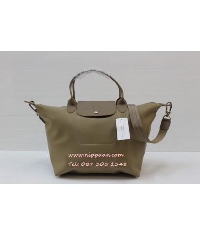 Longchamp Le Pliage Neo Shopping Handbag สีน้ำตาลทอง Taupe