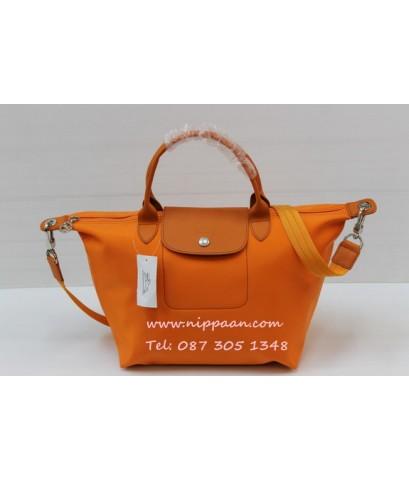 Longchamp Le Pliage Neo Shopping Handbag สีส้ม Orange / Clementine