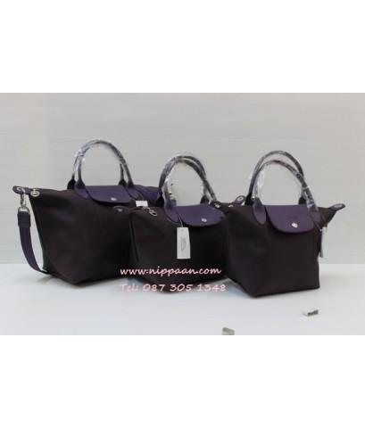 Longchamp Le Pliage Neo Shopping Handbag สีม่วง Billberry