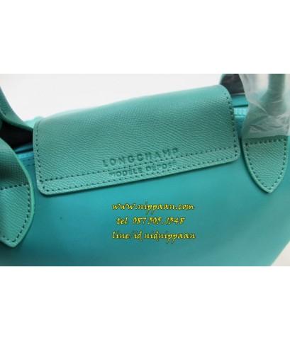Longchamp Le Pliage Neo Shopping Handbag สีเขียวมิ้นท์ Emerald