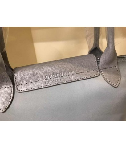 Longchamp Le Pliage Neo Shopping Handbag สีเทา Size S
