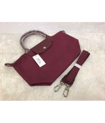 Longchamp Le Pliage Neo Shopping Handbag สีแดง Size M