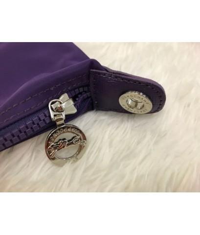 Longchamp Le Pliage Neo Shopping Handbag สีม่วง Size M