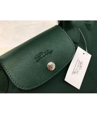 Longchamp Le Pliage Neo Shopping Handbag สีเขียว Size M