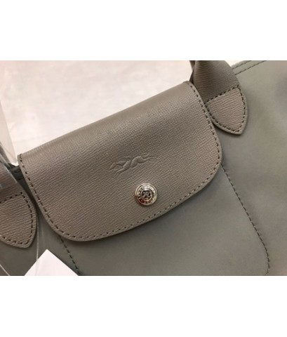 Longchamp Le Pliage Neo Shopping Handbag สีเทา Size M