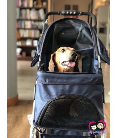 รถเข็นสุนัข รถเข็นหมา จากจีน รุ่น4ล้อ ขนาดเล็กประหยัด รับนน.15กก.มีหน้าร้านให้ชมสินค้ามากมาย